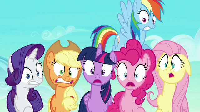 File:Mane Six scared S6E2.png