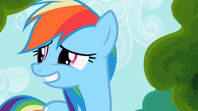 File:Rainbow Dash smiles awkwardly S2E08.png