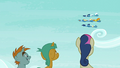 Snips, Snails, and Sweetie Drops watching the Wonderbolts S6E7.png