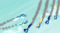 Wonderbolts flying in formation S6E7