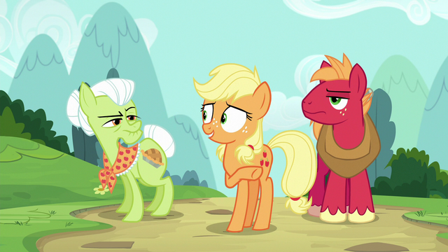 File:Applejack directs Granny to the back of the hospital S6E23.png