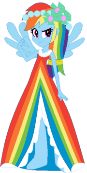 FANMADE Rainbow Dash Human Canterlot