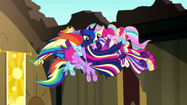 File:Rainbow Power Mane Six gather around Luna S5E13.png