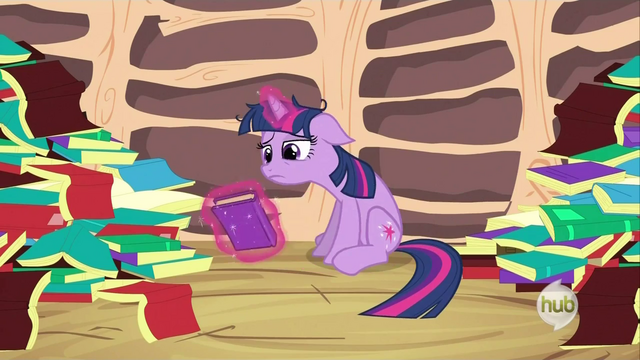 File:Twilight Sparkle after reading her entire library S2E21.png