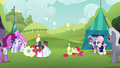 Apple Bloom and Orchard Blossom juggle on their backs S5E17.png