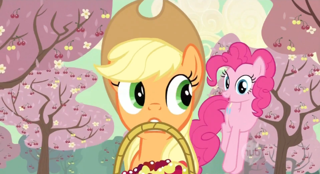 File:Pinkie Pie annoys Applejack cherry changa S2E14.png