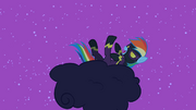 Rainbow Dash rolling on the cloud laughing S2E04.png