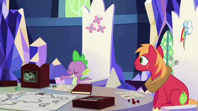 """File:Spike """"defeat the evil Squid Wizard"""" S6E17.png"""