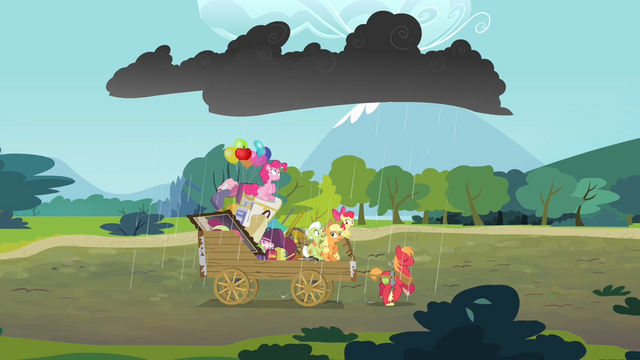 File:Thundercloud raining on the Apple family and Pinkie S4E09.png