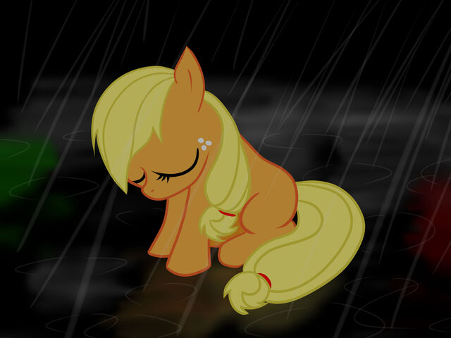 File:FANMADE Sad Applejack is sad.jpg