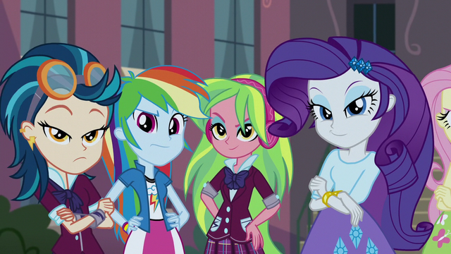 File:Indigo, RD, Lemon, and Rarity looking confident EG3.png