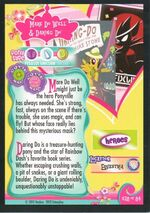 Mare Do Well & Daring Do Enterplay trading card back