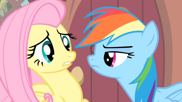 File:Rainbow looking at Fluttershy S4E07.png