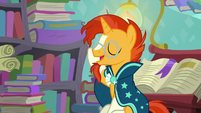 Sunburst adjusts his glasses S6E2