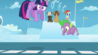 Twilight and Spike gets taken above S5E26