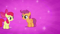 Apple Bloom and Scootaloo before Sweetie Belle joins them S2E17.png