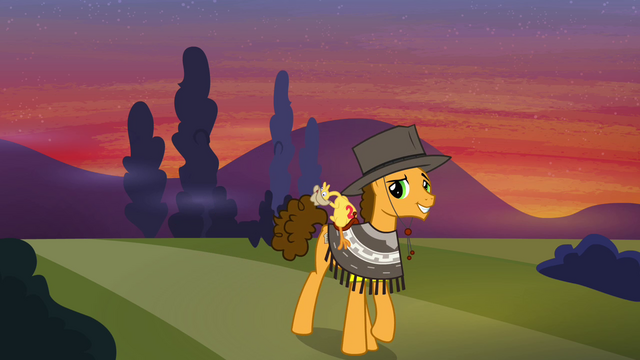 File:Cheese Sandwich leaving Ponyville S4E12.png