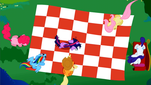 File:Mane 6 picnic blanket overhead view S2E03.png