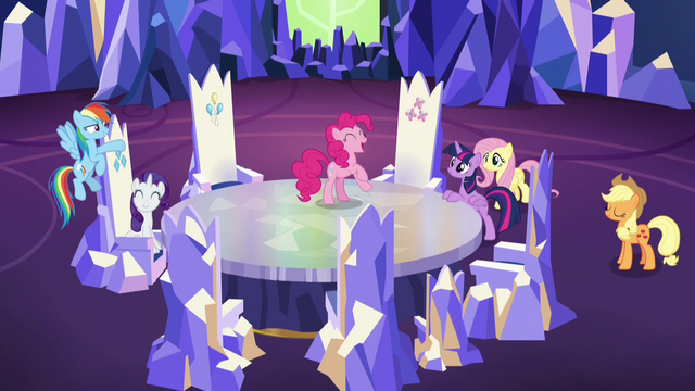 File:Mane Six ready for a covert friendship mission S7E11.png