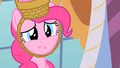 Pinkie Pie sad when Rarity can't go to the second party S1E25.png
