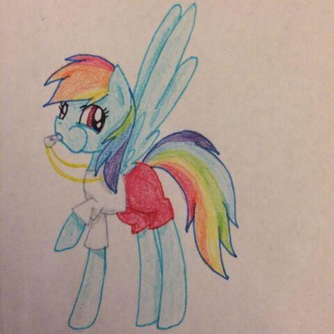 File:FANMADE Rainbow Dash lifeguard.jpg