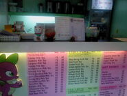 FANMADE The counter at Tea Avenue