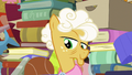Goldie Delicious smirking at Applejack S7E13.png