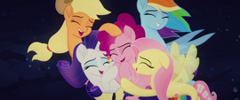 Seapony main five in a group hug MLPTM