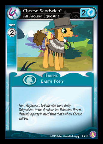 File:Cheese Sandwich, All Around Equestria card MLP CCG.png