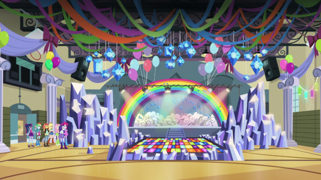 File:Crystal Rainbooms' stage in the CHS gym EGS1.png