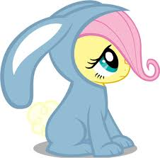 File:FANMADE Filly Fluttershy in a bunny suit.jpg