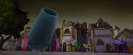 Party cannon pointed toward the sky MLPTM