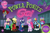 Power Ponies Go title screen