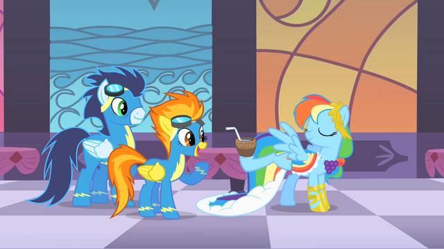 File:Rainbow Dash amuses Soarin' and Spitfire S1E26.png