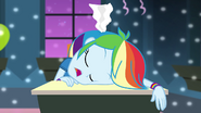 Rainbow Dash sleeping at desk EG2