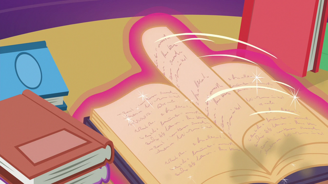 File:Twilight's magic flips through book pages S6E19.png