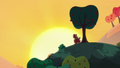 Apple Bloom and Big Mac watch the sunset S5E17.png