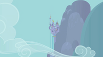 Distance view of Canterlot midday S1E03