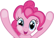 FANMADE Pinkie Pie squished against the screen