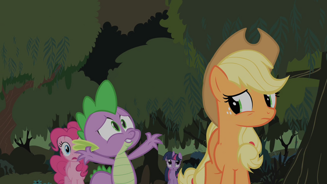 File:Spike believes Fluttershy spontaneously exploded S01E15.png