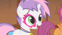 Sweetie Belle saying they were trying too hard S1E18