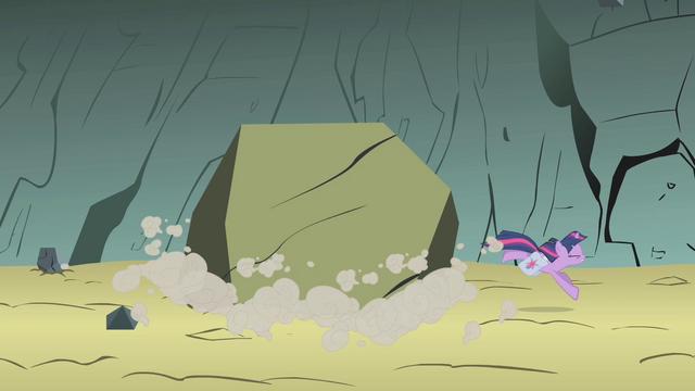 File:Twilight dodges a boulder S1E07.png