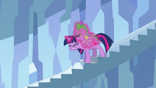 File:Twilight putting tired Spike on her back S3E2.png