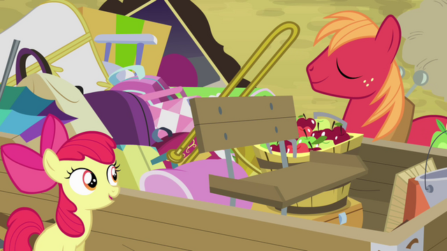 File:Apple Bloom and Big Mac by the wagon S4E09.png