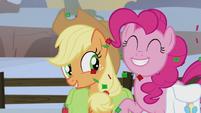 Applejack and Pinkie Pie optimistic S5E20