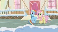 Fluttershy doesn't want Rainbow to melt snow faster S1E11