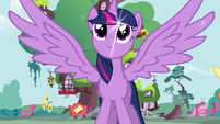 Princess Twilight outstretches her wings S4 opening