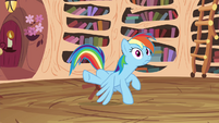 Rainbow about to almost fall S4E21