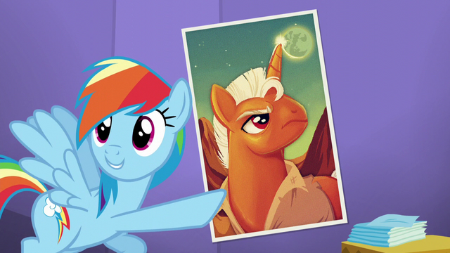 File:Rainbow points at the Smash Fortune poster S5E19.png