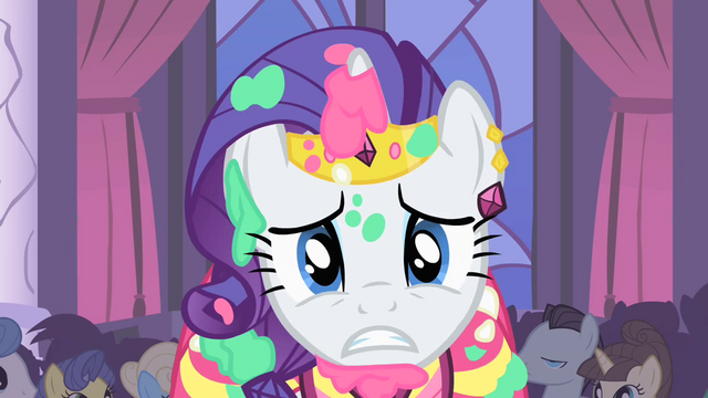 File:Rarity about to fling cake on Blueblood S1E26.png